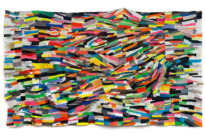 Textile Skulptur Night's light light out aus der Ausstellung Andrea Myers Neon Speed