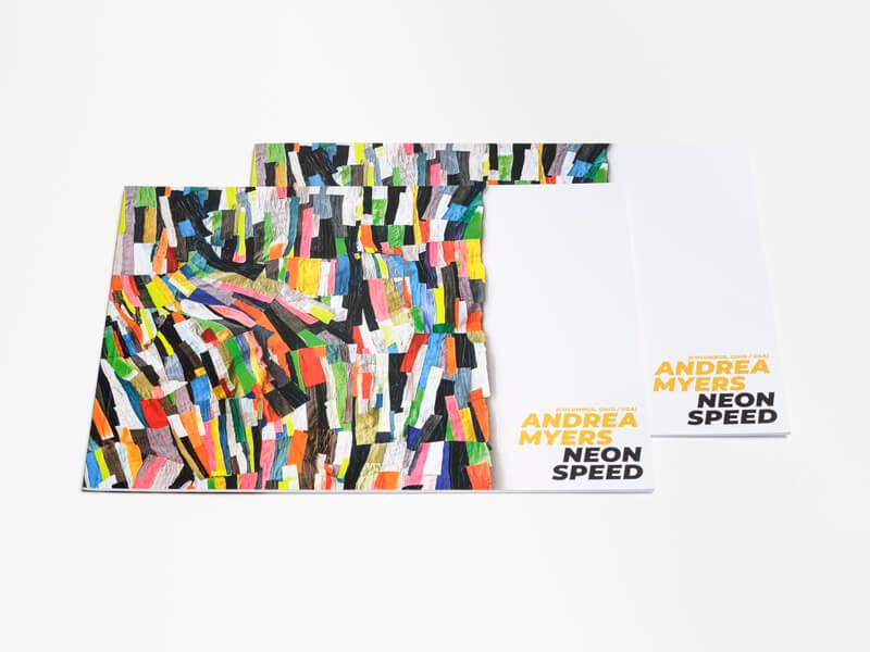 "Ausstellungskatalog Andrea Myers ""Neon Speed"""